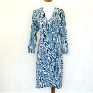 Calvin Klein Side Ruched Metal Buckle Knit Dress